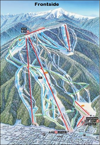 Red River Ski Area Trail Map SkiSnowboardingEscapeski - Red river map us