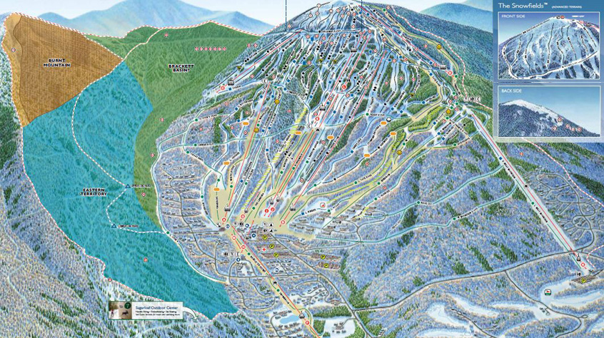 sugarloaf ski resort trail map