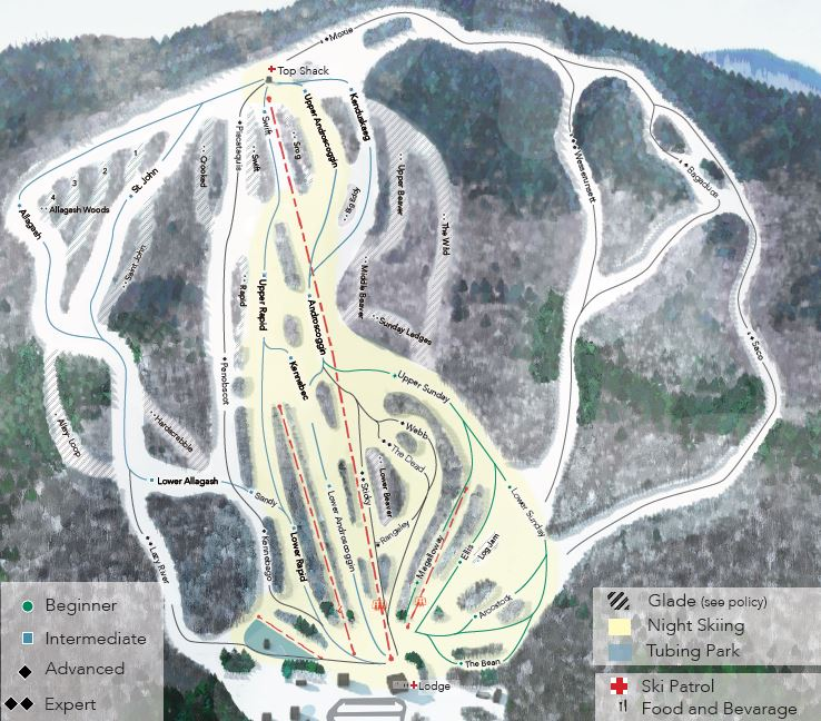 Black Mountain Maine Trail Map SkiingSnowboardingEscape2ski